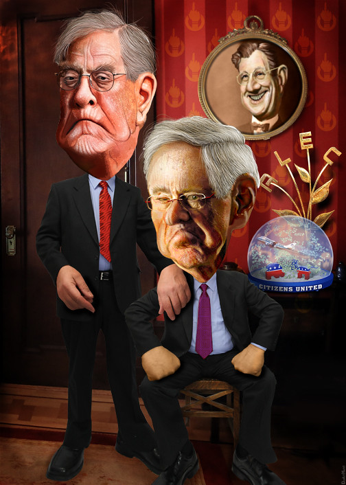 David and Charles Koch - Caricatures