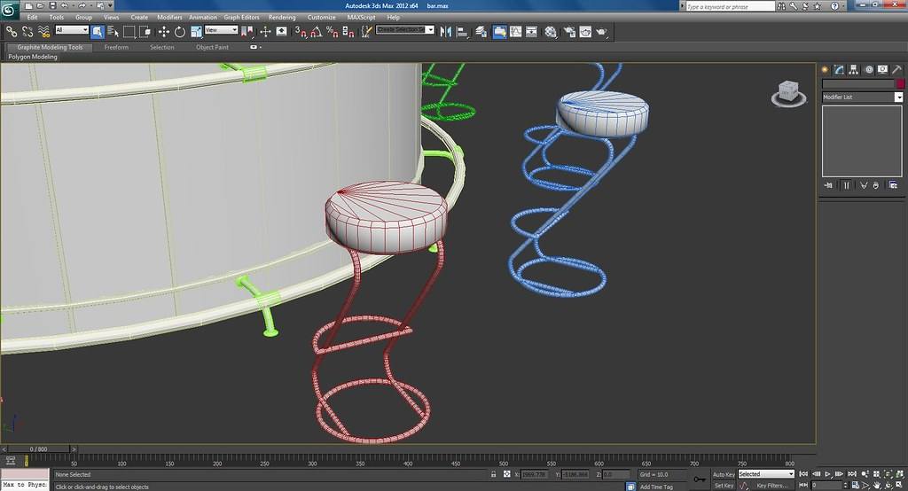 3d Bar Work In Progress Wire Frame Screenshots