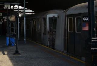 NYCT R40s at Ditmars Boulevard