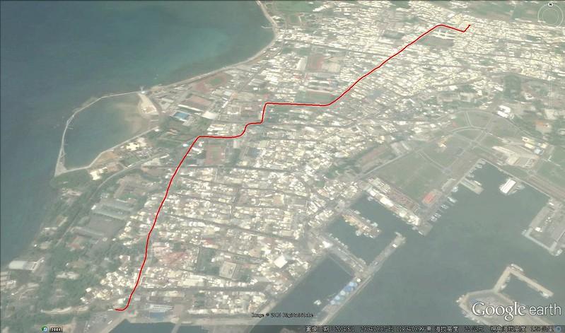 澎湖家至馬公港 路線圖