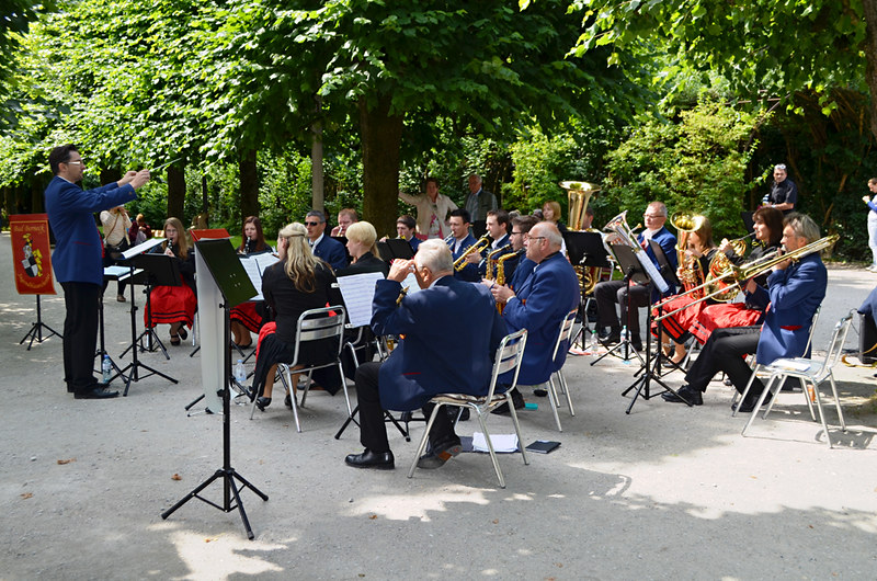 Brass band, Mirabell Gardens, Salzburg, Austria