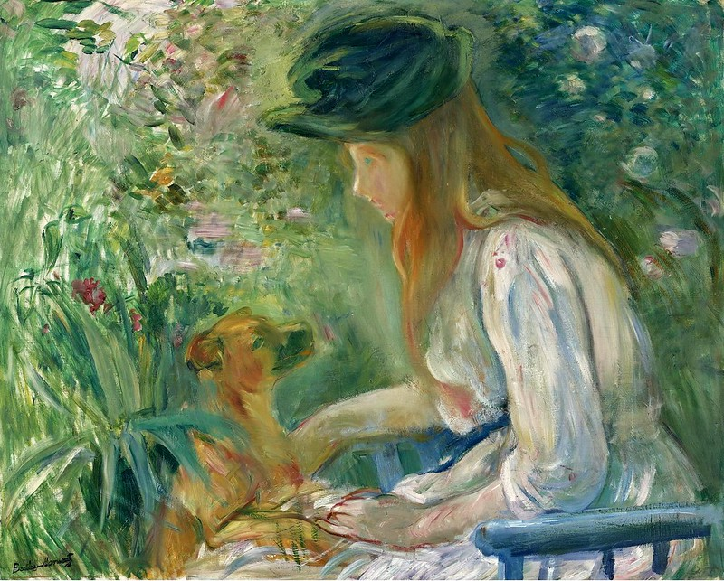 Berthe Morisot - Young Woman With Dog (1892)