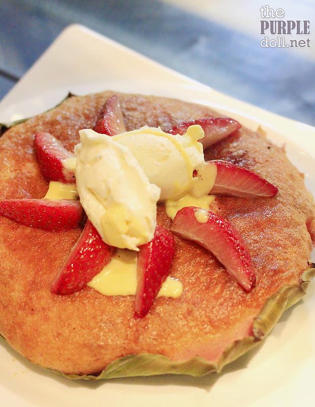 Strawberry and Vanilla Gelato-Inspire Bibingka from Cafe Maxims