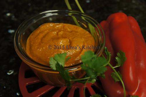 Capsicum tomato chutney