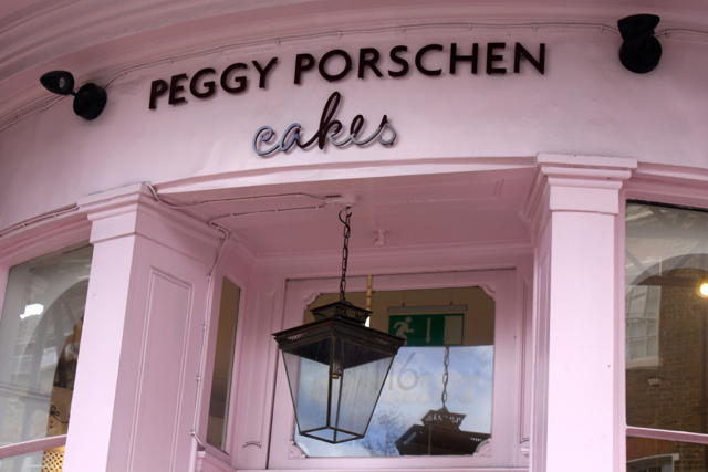 Entrance to Peggy Porschen, London