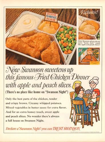 1967 Swanson TV Dinner Advertisement Life Magazine October 6 1967