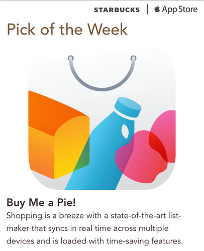 Starbucks iTunes Pick of the Week - Buy Me a Pie!