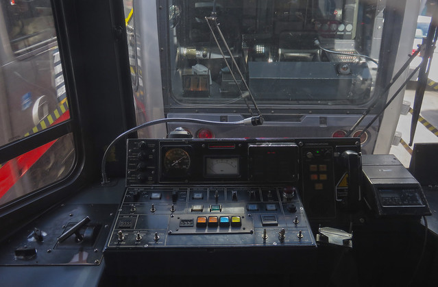 N Judah MUNI train controls.  San Francisco (2015)