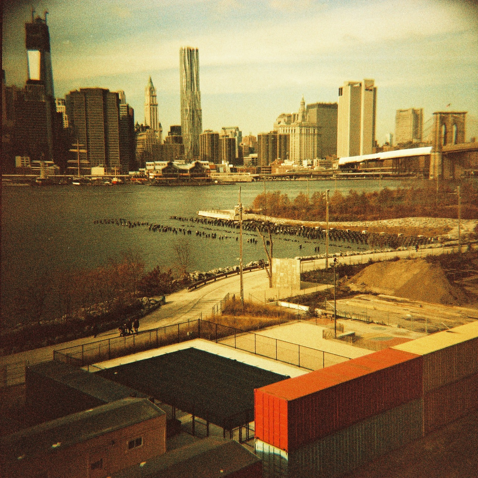 Frank Gehry building from Brooklyn, NYC