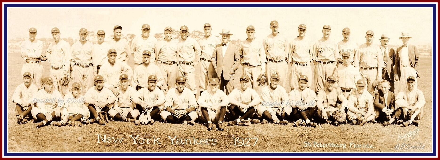 Pusateri Funeral Home's, Wayne County and East Rochester 1927 new york yankees team photo