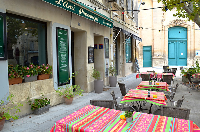 Cafe, Fontvieille, Provence, France