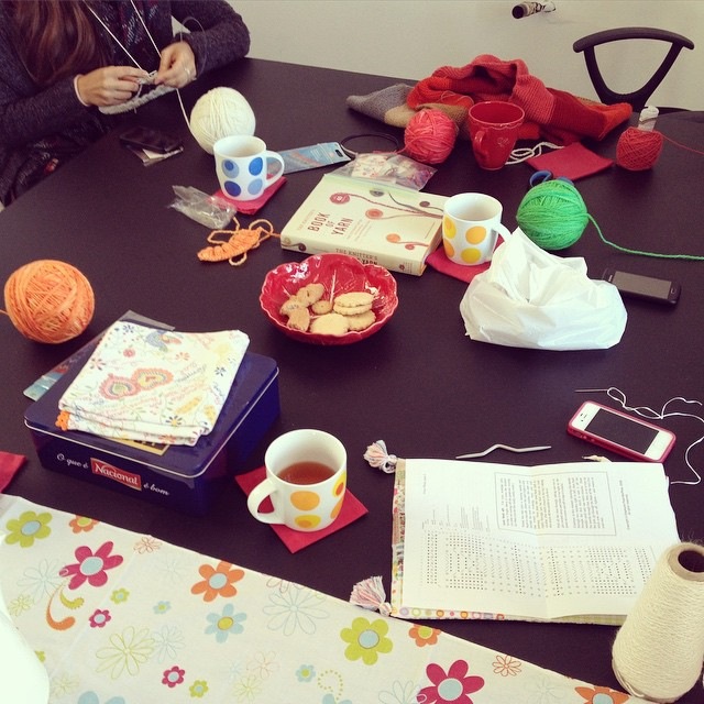 Scenes from our #knitting workshop yesterday.