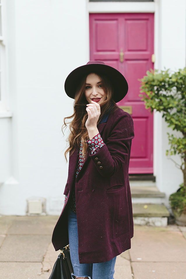 Burgundy Outfit Seventies What Olivia Did