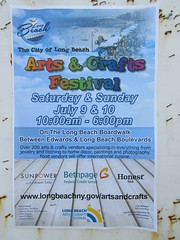 The City of Long Beach Arts & Crafts Festival poster on LBI Long Beach Island, New York, USA
