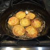 I love #castironcooking, no need to clean it wipes right up. #southern #friedgreentomatoes #homecooking #foodie #local #goodeats