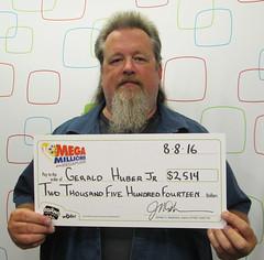 Gerald Huber Jr - $2,514 Mega Millions