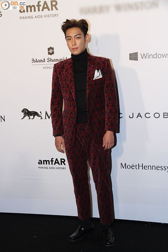 TOP - amfAR Charity Event - Red Carpet - 14mar2015 - on.cc - 02