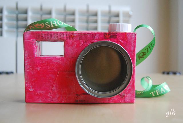 cámara fotográfica diy juguete cartón