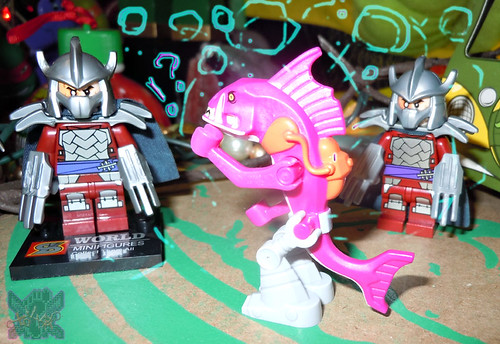 "Sheng Yuan TEENAGE MUTANT NINJA TURTLES :: ""SHREDDER"" Bootleg Minifigure Set i (( 2014 ))"