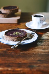 Cranberry Walnut Cream Whole Rye Tartlets | A Brow…