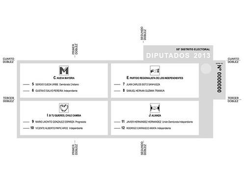Chilean Chamber Ballot 2013