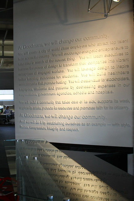 Goodmans Mission Values Vision