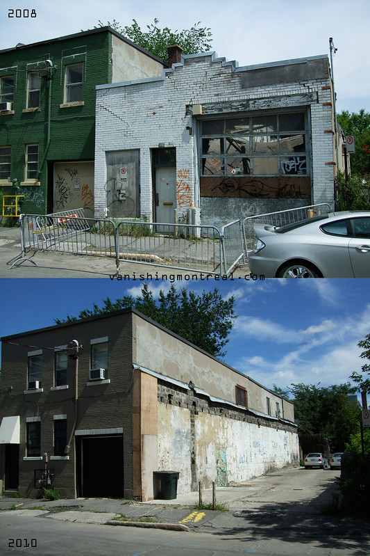 Before / After :  Dilapidated garage on William in Griffintown 1