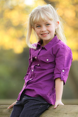 child, hairstyle, child model, clothing, purple, yellow, girl, photo shoot, blond, spring, person, beauty, portrait, eye,