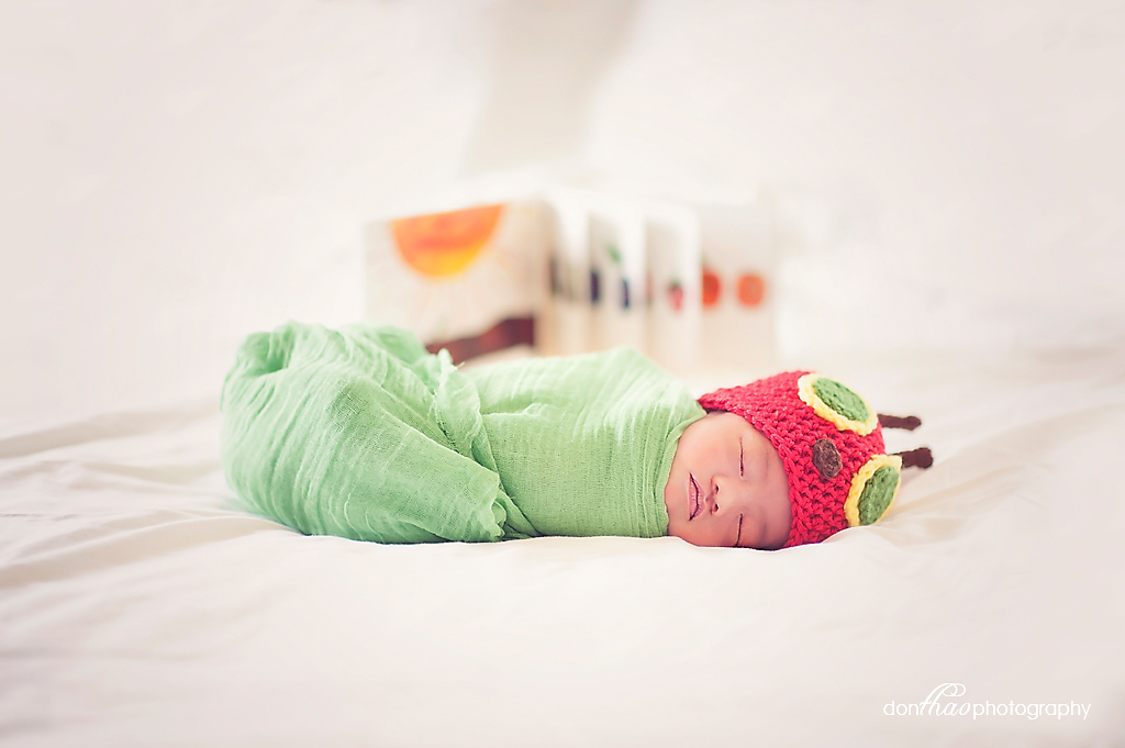 Hungry Caterpillar newborn photography in East Lansing, Michigan