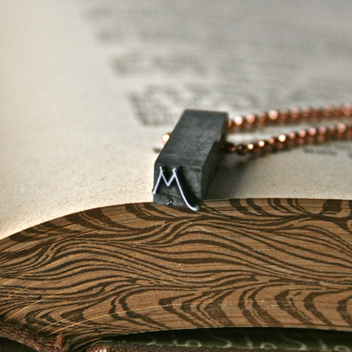 Letterpress Initial Pendant