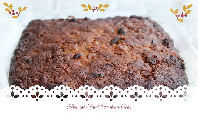 Tropical Fruit Christmas Cake