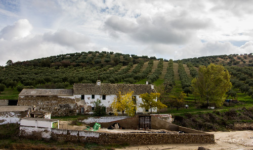 Cortijo al borde del arroyo