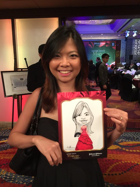 Caricature live sketching for Johnson & Johnson D&D