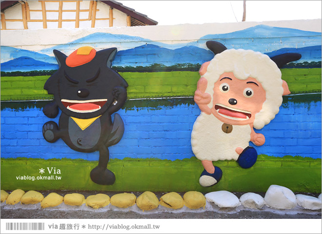 【南新彩繪村】彰化埔鹽/南新立體彩繪村~隱藏版的花海圍繞整村,美景如畫!21