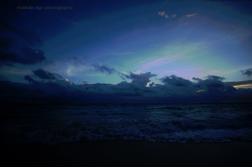 ocean morning blue light sky water clouds sunrise dark dawn waves dominicanrepublic wideangle tones atlanticocean puntacana bavaro sigma1020mm thegalaxy