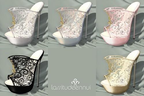 lassitude & ennui Lucy heels colorsheet
