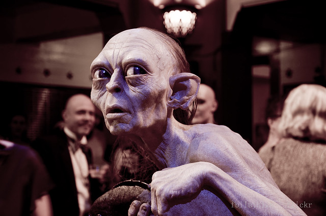 Gollum hanging out amongst party goers