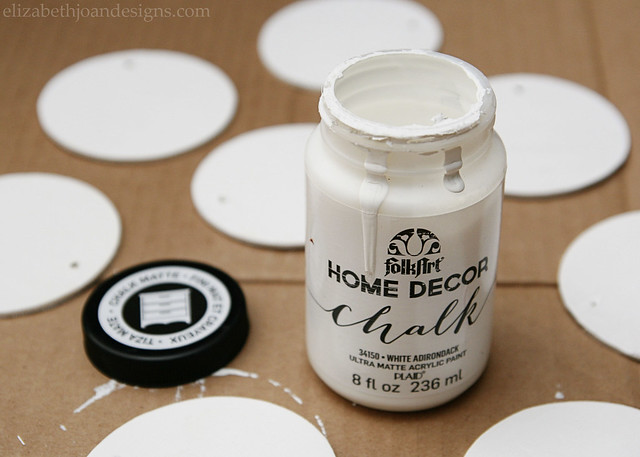 White Paint Wood Circles