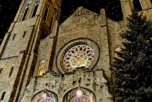 christmas canada church architecture night lumix winnipeg manitoba explore 10000views cans2s westminsterunitedchurch fz200