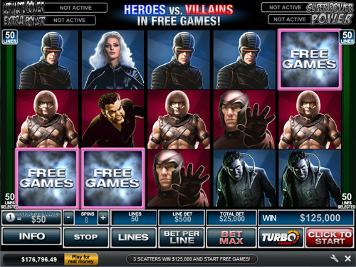 free X-Men 50 Line gamble feature