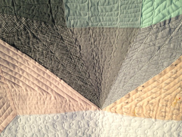 quilting near the point