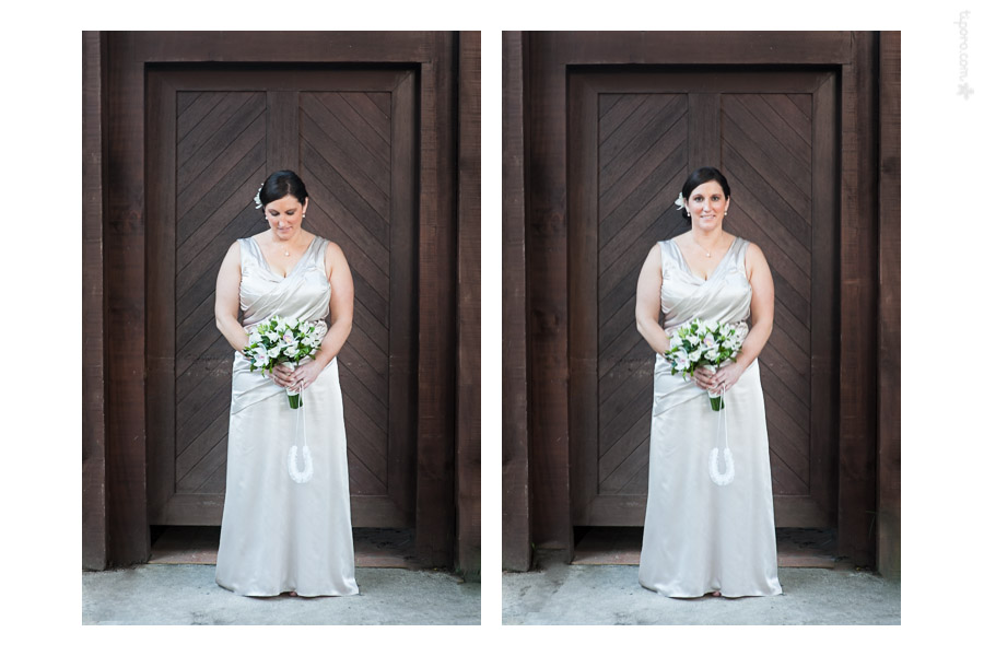 The Bride. formal wedding portraits, environmental