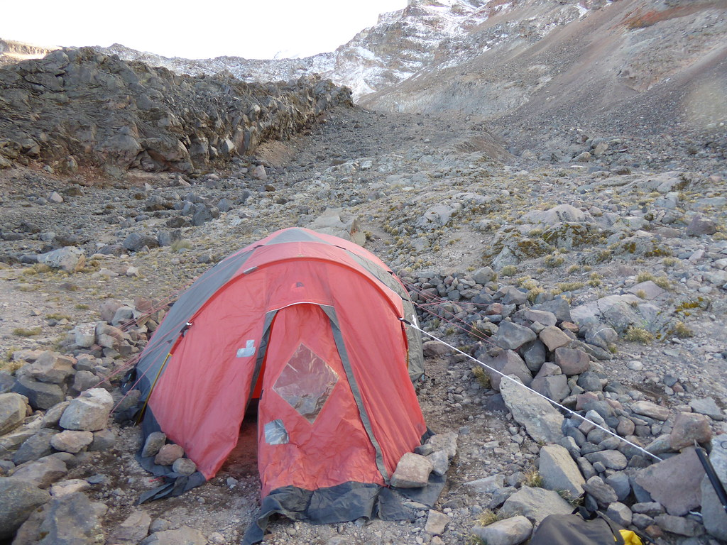 High camp at around 4,500m on Pico de Orizaba