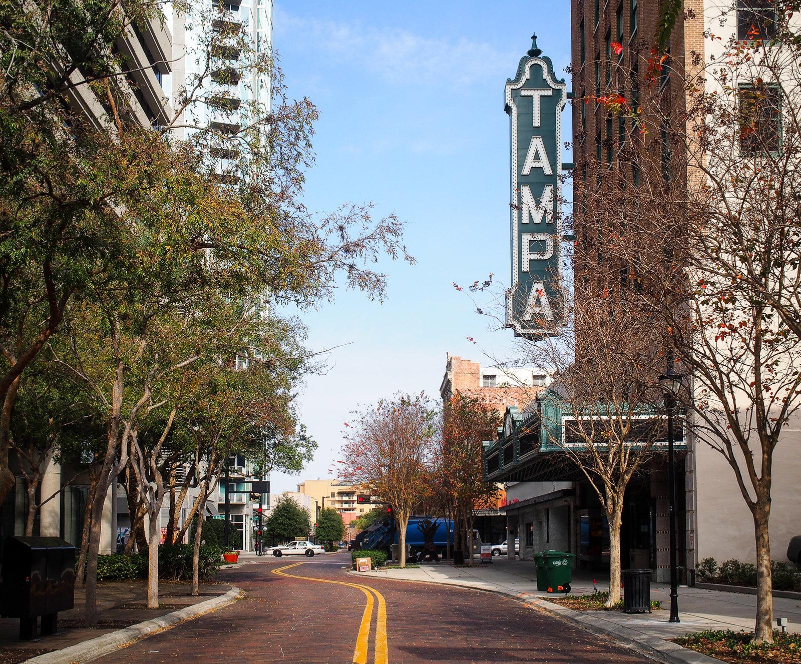 Tampa theatre sign