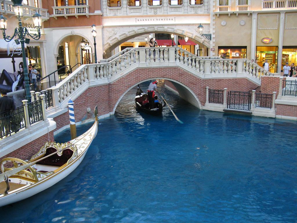 Gondola rides at Venetian hotel in Las Vegas