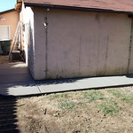 New Backyard Concrete Walkway In Vacaville