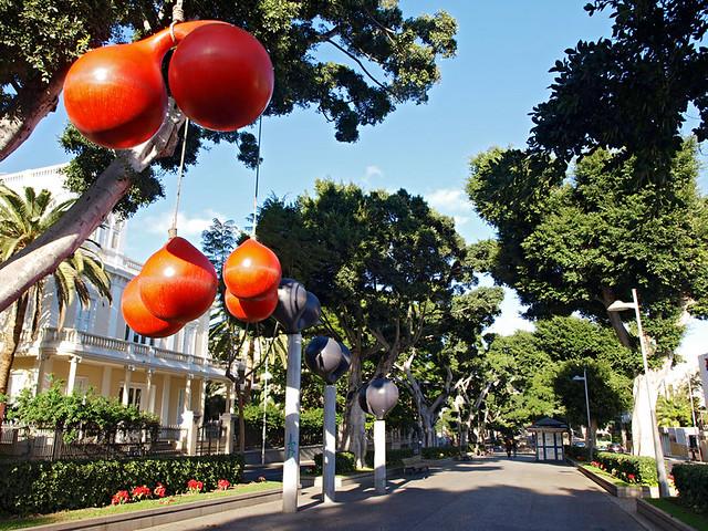 Xavier Corbero's balls, La Rambla, Santa Cruz, Tenerife