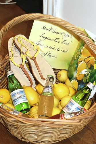 Lemon basket visual merchandising