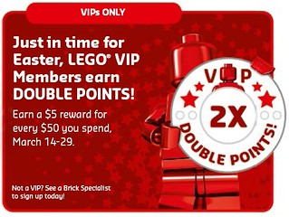 LEGO Shop Double VIP March 2015