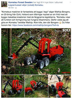 Article with pictures of Komatsu 931.1 moc